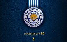 Download wallpapers Leicester City FC, 4k, English football club, leather texture, Premier League, logo, emblem, Leicester, England, UK, football