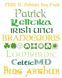 St Patricks Day Fonts