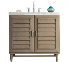 James Martin Signature Vanities Portland 36 in. W Single Vanity in Whitewashed Walnut with Marble Vanity Top in Carrara White with White Basin at The Home Depot - Mobile Single Sink Bathroom Vanity, Bathroom Vanities, Bathroom Ideas, Bath Ideas, Single Vanities, Bathroom Remodeling, 36 Inch Vanity, James Martin Vanity, James Martin Furniture