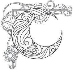 Steampunk Nouveau - Crescent Moon_image