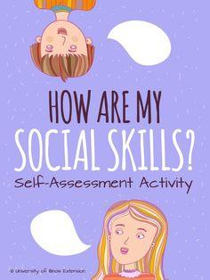 Social Skills self-assessment for middle & high school  #socialskills