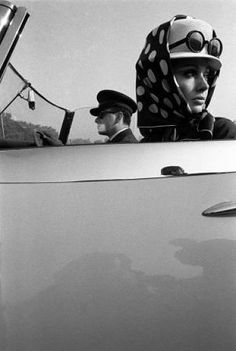 That hat, that scarf, those glasses, Pierre Cardin advertisement, 1960s