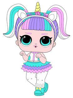 Kawaii Drawings, Cute Drawings, Lol Doll Cake, Unicorn Doll, Cute Cartoon Girl, Doll Party, Lol Dolls, Paper Dolls, My Little Pony