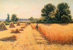 The Harvest by Edwin Evans. Paris Kunst, Paris Art, Art Painting Gallery, Art Gallery, Champs, Field Of Dreams, Pastel Art, Fields, Harvest