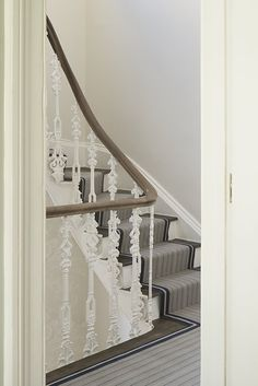 Photo from Slot House collection by nimtim architects http://www.nimtim.co.uk/ Trent Airforce on stairs #stairsandstripes
