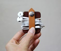 Organize your cables and cords with this leather keeper.