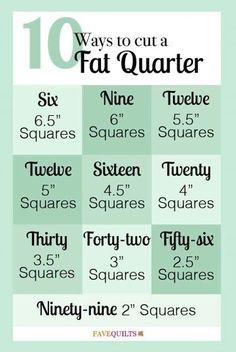 10 Ways to Cut a Fat Quarter More