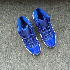6a2e59a594db75 Air Jordan 11 XI Blue Black White Hot Sale