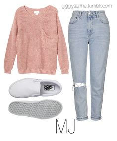 """""""Picnic // MJ"""" by suga-infires ❤ liked on Polyvore featuring Topshop, Monki and Vans"""