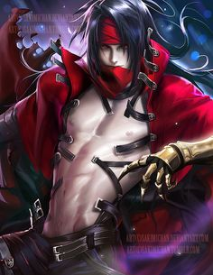 Vincent Valentine .NSFW optional. by sakimichan.deviantart.com on @DeviantArt