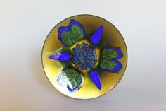 Edward Star Enamel Dish / Vintage MCM Enamel by HolliePoint Copper Dishes, Enamel Dishes, Ernst Ludwig Kirchner, Gold Top, 1960s, Shapes, Star, Handmade, Stuff To Buy
