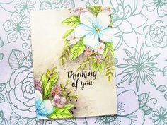 Thinking of You using Concord & Hello Lovely Handmade Card Making, Handmade Cards, Ace Card, Beach Cards, Concord And 9th, Card Companies, Die Cut Cards, Sympathy Cards, Greeting Cards