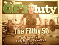 #UFC #TUF winner, Colton Smith gives us his version of #CrossFit's Filthy 50