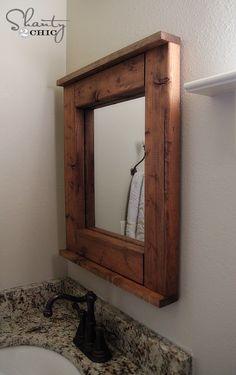 Wood Mirror DIY- good beginner project for Kreg jig and features new nail gun