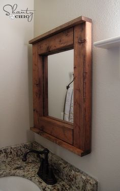 Wood Mirror DIY- good beginner project for Kreg jig and features new nail gun