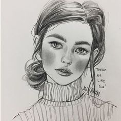 Drawing Pencil Portraits - Lainey character inspiration Discover The Secrets Of Drawing Realistic Pencil Portraits Realistic Drawings, Cool Drawings, Drawing Sketches, Drawing Art, Girl Face Drawing, Portrait Sketches, Drawing Faces, Drawing Ideas, Sketching