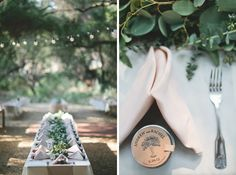 Andrew & Rachel // A Hidden Oaks Heritage Wedding in Ramona » The Daily Frolic / long table / jam / garland / market lights / vintage