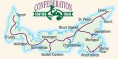 What do you do with an abandoned railway line? You turn it into a recreational trail that runs directly across the most. Canada Travel, Canada Trip, Trail Maps, Prince Edward Island, Future Travel, Newfoundland, Beautiful Islands, Outdoor Activities, Touring