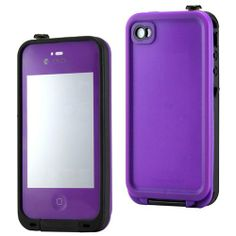 cool iPhone 4 LifeProof Case | GEARONIC Purple Waterproof Shockproof Full Body Skin Case Cover Pouch for iPhone 4 4S 4G, Multi Purpose Protective Skin for water, shock, snow, dirt