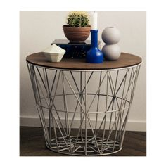 SIDE TABLE WIRE BASKET GREY by Ferm Living – LO AND BEHOLD STORE