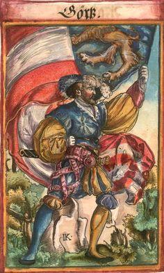 "Görz [Görß] (f°129) -- Koebel, Jacob, ""Wapen des heyligen römischen Reichs teutscher Nation"", Franckfurth am Main, 1545 [BSB Ms. Rar. 2155]"