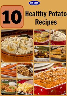 10 Healthy Potato Recipes - From fries to mashed potatoes to sweet potatoes and more, these easy potato side dishes are must-have additions to any of your favorite dinners.