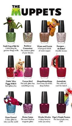 Muppets nail polish