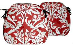 2 Spindle Chair Seat Pads Ophelia Ruby
