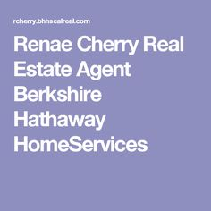 Renae Cherry Real Estate Agent Berkshire Hathaway HomeServices