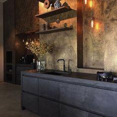 50 Ideas Kitchen Modern Brown Floors For 2019 Kitchen Taps, Kitchen Fixtures, Kitchen Modern, Black Kitchens, Cool Kitchens, Modern Interior Design, Interior Design Living Room, Kitchen Interior, Design Kitchen
