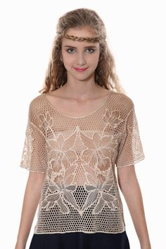 20s Retro Holey Knit Top. Free 3-7 days expedited shipping to U.S. Free first class word wide shipping. Customer service: help@moooh.net