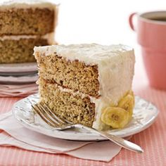 Decadent Banana Cake with Coconut-Cream Cheese Frosting