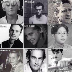 early photos of the Walking Dead Cast.  Wow look at Hershel and the Governor!