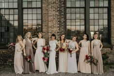 neutral tone bridesmaids