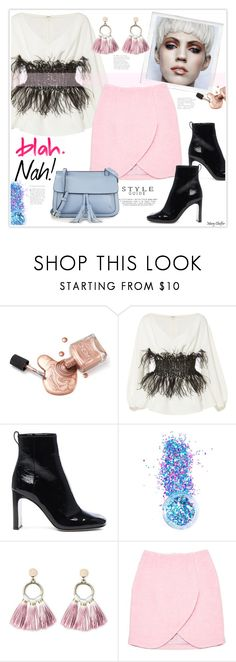 """""""Blah. Nah!"""" by mcheffer ❤ liked on Polyvore featuring Elizabeth Kennedy, rag & bone, In Your Dreams, SUGARFIX by BaubleBar, Polaroid, Carven, KC Jagger, Spring and pastels"""