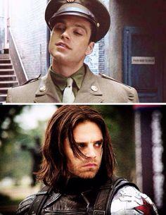 Sebastian Stan as Bucky/the Winter Soldier.