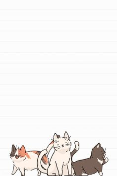 Cat lover pattern lined note paper template vector | premium image by rawpixel.com / marinemynt
