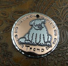 Sheepdog ID Tag or Key Fob by IslandTopCustomTags on Etsy, $34.00