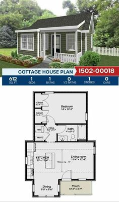 Little House Plans, Small House Floor Plans, Cabin House Plans, Tiny House Cabin, Little Houses, Minimalist House Design, Small House Design, Custom Modular Homes, Affordable House Plans