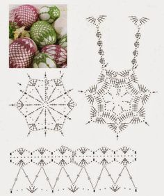 Crochet Lace Egg Chart - should be able to adapt this pattern to fit a ball-shaped christmas ornament :) Easter Crochet Patterns, Crochet Motifs, Crochet Diagram, Crochet Chart, Thread Crochet, Crochet Doilies, Crochet Flowers, Crochet Lace, Crochet Christmas Ornaments