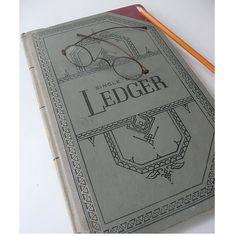Vintage Ledger Book Altered Art Bookkeeping. $9.00, via Etsy.