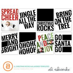 Christmas Rocks 6x8 Layered Templates by Ali Edwards #decemberdaily