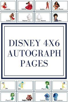 autograph pages I made. These are free for you to use on your visit to Disneyland or Disneyworld! Walt Disney, Disney Tips, Disney Love, Disney Stuff, Disney Parks, Disney Nerd, Disney Family, Disney Magic, Disney World Planning