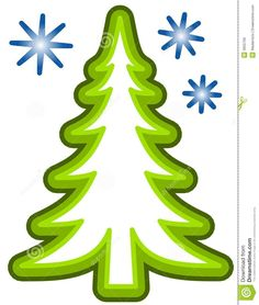 Tree Clipart Images Outline Whoville Christmas Simple Xmas Trees Craft Projects Presentation