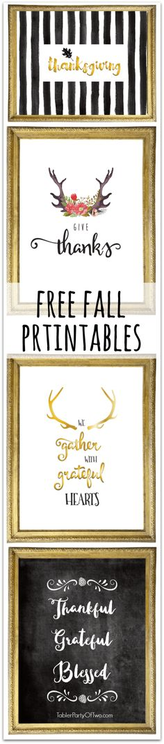 Free Thanksgiving Printables to add some Fall to your decor!