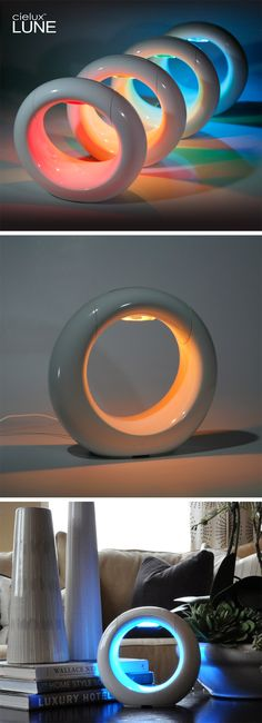 LED mood lamp - changes colors and dims with just a touch