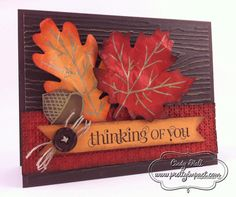 Stampin' Up! Fall Card  By Cindy Hall at Pretty Impact