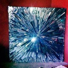 My mommy made it Mirror Mosaic, Mosaic Art, Mosaic Glass, Glass Art, Mirror Mirror, Stained Glass, Broken Mirror Projects, Broken Mirror Art, Mosaic Crafts