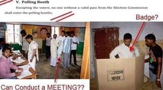 Rahul Examines EVMs, Meets People inside Booths