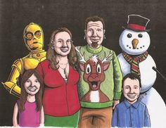 Our Christmas card, circa 2008 Best Blogs, Amazing Adventures, Just In Case, Christmas Cards, That Look, Superhero, Comics, People, Fictional Characters